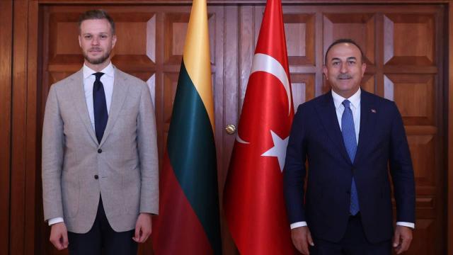 Bakan Çavuşoğlu, Litvanyalı mevkidaşı ile görüştü