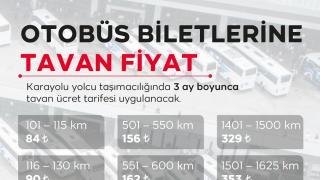 Otobüs biletlerine tavan fiyat