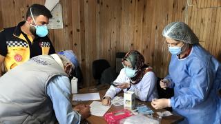 Bayburt'ta mobil sağlık ekipleri yaylalarda Covid-19 aşısı yapıyor