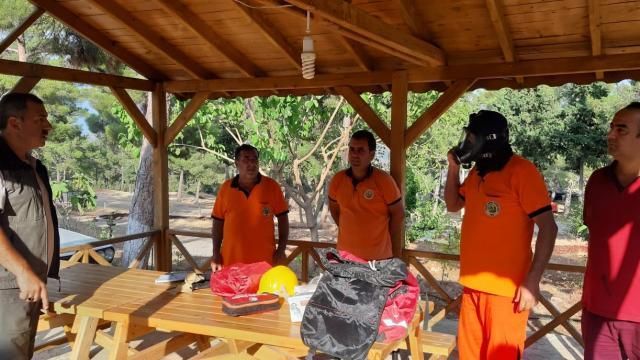 Mersinde orman personeline iş güvenliği eğitimi verildi
