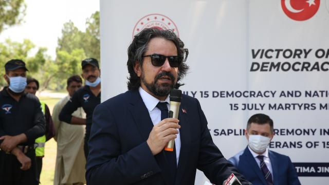 Pakistanda 15 Temmuz şehitleri anısına fidan dikildi
