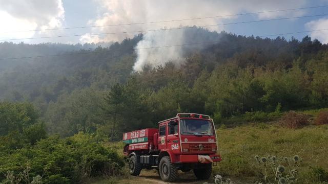 Bafradaki yangın 12 saat sonra kontrol altına alındı