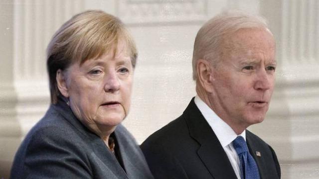 Biden ile Merkel Beyaz Sarayda bir araya geldi
