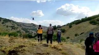 Rahatsızlanan çobanın imdadına ambulans helikopter yetişti