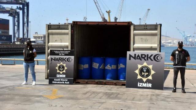 İzmirde dev uyuşturucu operasyonu: 26 ton malzeme ele geçirildi