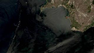 Müsilaj temizliğinde son durum uzaydan görüntülendi