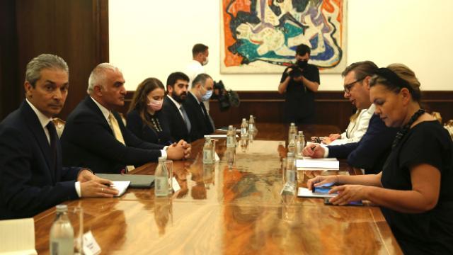 Kültür ve Turizm Bakanı Ersoyu Sırbistan Cumhurbaşkanı Vucic kabul etti