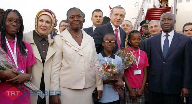 Başbakan Afrika gezisinin ilk durağında...