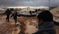 Ürdün'e kaçan Suriyelilerin kampını sel vurdu