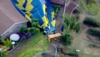 Yolcu dolu balon yere böyle çakıldı