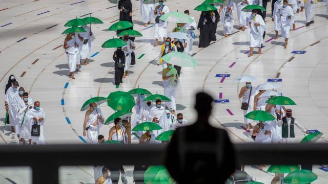 Kutsal topraklardaki Müslümanlar, ziyaret tavafını yaptı