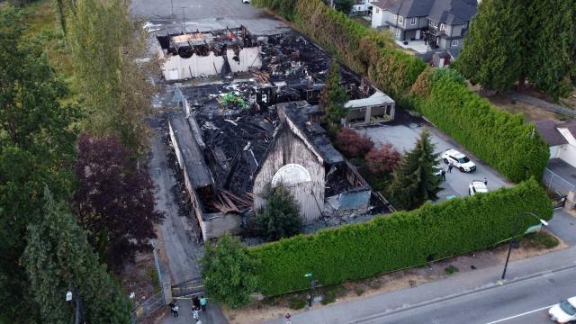 """Kanadada bir kilise daha """"şüpheli"""" yangında kül oldu"""