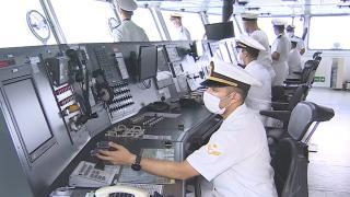 TCG Alemdar personeli bayramı gemide karşıladı