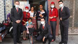 THY 100 çocuğun bisiklet hayalini gerçekleştirdi