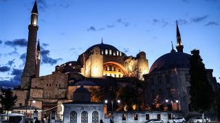 Ayasofya Camii'nin bir yıl önce cemaatine kavuştu