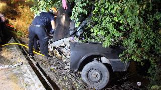 Bolu'da otomobil ağaca çarptı: 1 yaralı