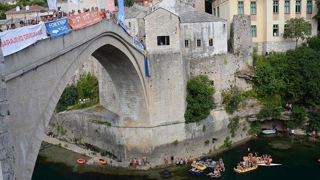 455. Geleneksel Mostar Köprüsü Atlayışları yapıldı