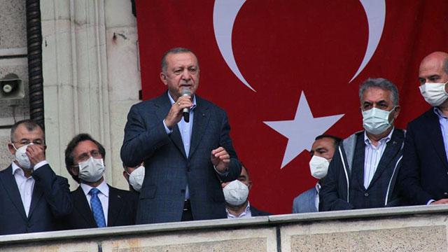 Cumhurbaşkanı Erdoğan Arhavide: Hak sahiplerine ödemeler en kısa zamanda yapılacak