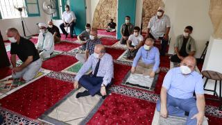 Kapalı Maraş'ta Bilal Ağa Mescidinde 47 yıl sonra ilk cuma namazı