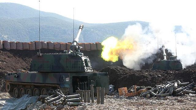 Suriye sınırında terör hedefleri ateş altına alındı