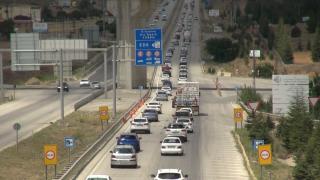 'Kilit kavşak' Kırıkkale'de bayram dönüşü yoğunluğu