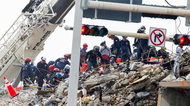 Miamide çöken binada arama çalışmaları sonlandırıldı