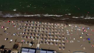Samsun'da sıcaktan bunalanlar sahillerde yoğunluk oluşturdu