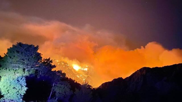 Aksekide orman yangını: 1 kişi hayatını kaybetti