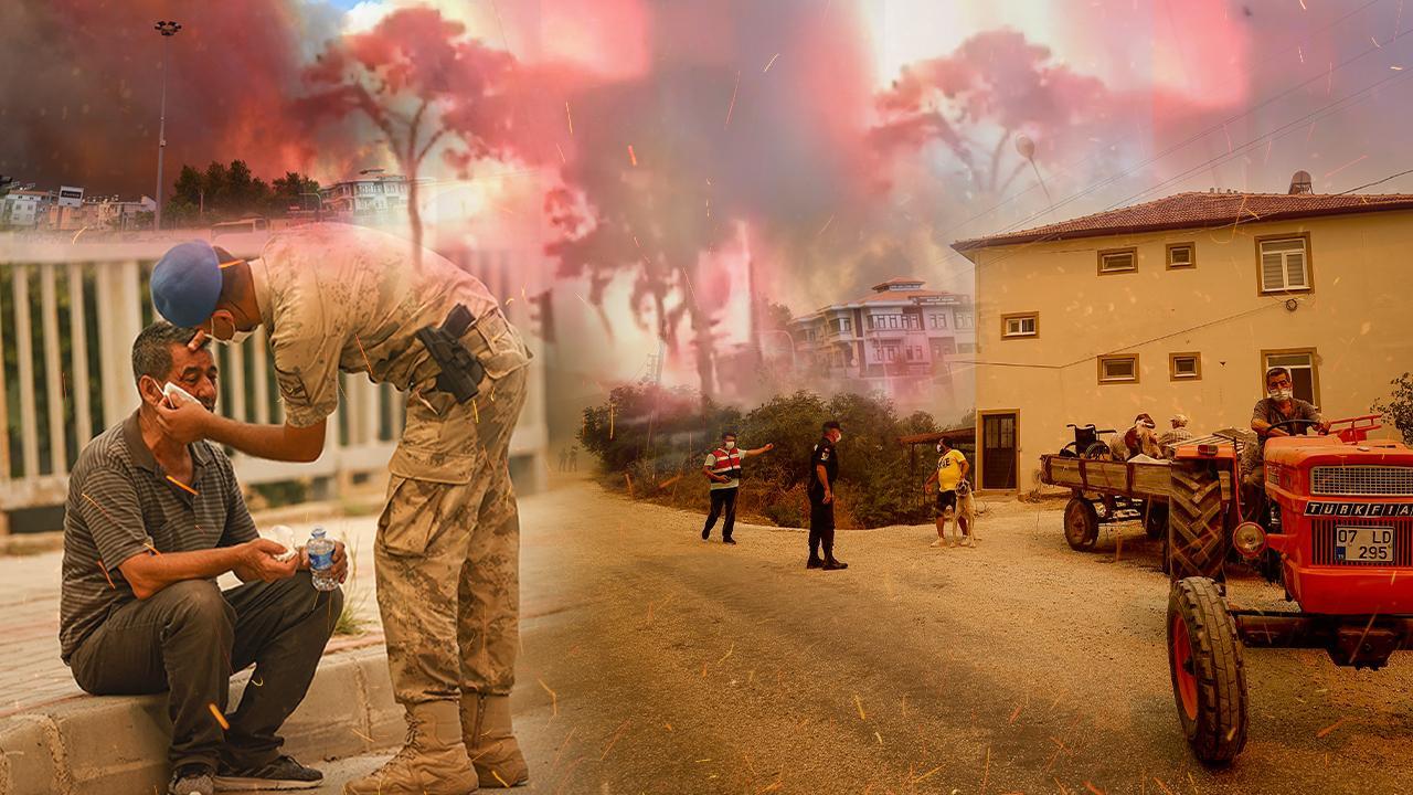 Manavgat'ta büyük yangın: 4 mahalle boşaltıldı