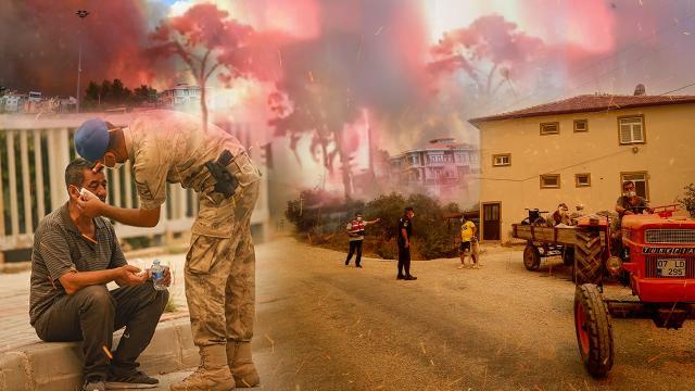 Antalya'daki yangınlarda tüm imkanlar seferber edildi