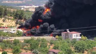 Gaziantep'te tekne imalathanesinde yangın