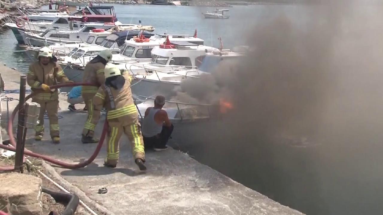 Maltepe'de teknede çıkan yangın söndürüldü
