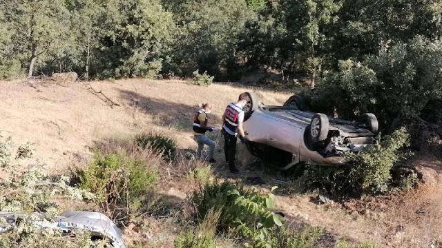 Aydında otomobil şarampole devrildi: 1 ölü, 2 yaralı