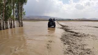 Van'da tarım arazileri selden zarar gördü