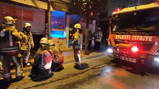 İstanbulda iş yeri yangını