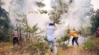 Alanya'da vatandaşlar yangına karşı önlem aldı