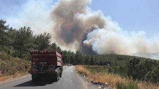 Yangın bölgesinde kuvvetli rüzgar bekleniyor