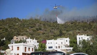 Bodrum'daki yangını söndürme çalışmaları devam ediyor