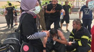 Gaziantep'te yangın çıkan bina tahliye edildi