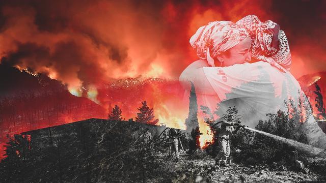 Yangından etkilenen yerler afet bölgesi ilan edildi