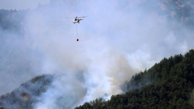 Kozandaki orman yangını kontrol altına alındı