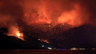 Ciğerimiz yanıyor: Marmaris'te orman yangını
