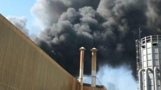 Mersin'de çivi fabrikasında yangın