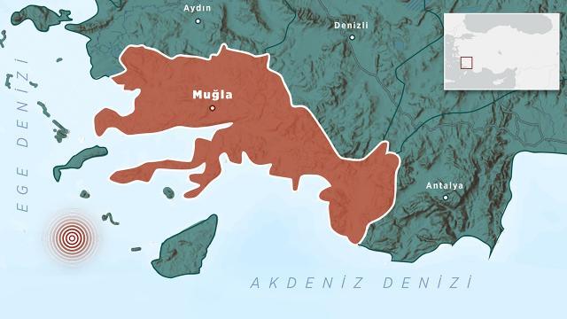 Ege Denizinde 5,5 büyüklüğünde deprem