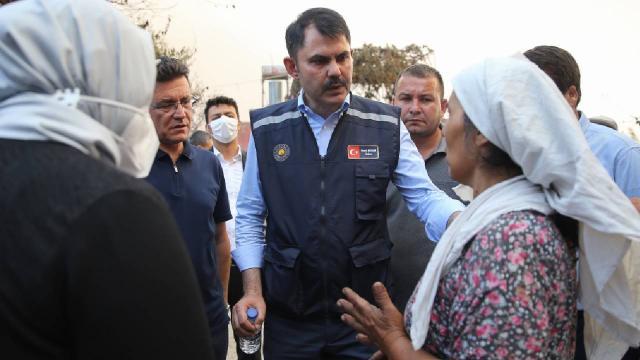Bakan Kurum: Manavgatta yaralar en yakın sürede sarılacak