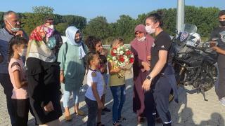 Nuray Levent'e coşkulu karşılama