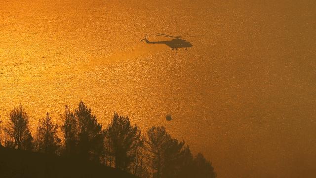 Yunanistanda orman yangınları sürüyor