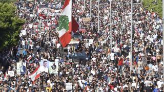 Beyrut'taki patlamanın birinci yılında gösteri düzenlendi