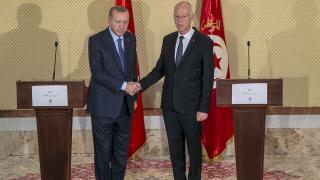 Cumhurbaşkanı Erdoğan Tunus Cumhurbaşkanı ile görüştü