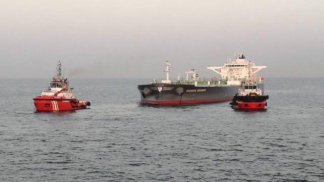 Ambarlı Limanı açığında arızalanan tanker kurtarıldı